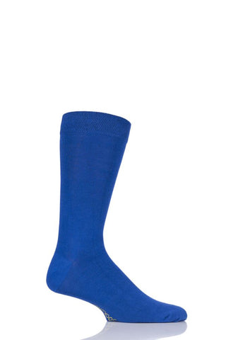 Sockshop-Mens Bamboo Socks-1 Pair Pack-True Blue