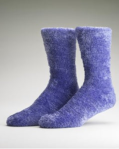 Ladies Bedsocks-Gaspe-Purple