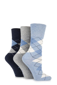 Gentle Grip-Ladies Socks-3 Pair Pack