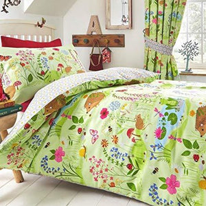 Kids Duvet Cover-Bluebell Woods