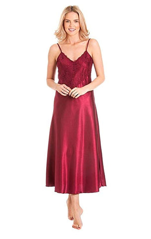 Ladies-Long Satin Nightdress-N50