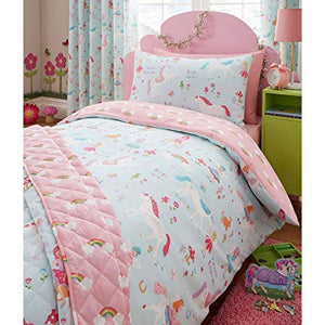 Kids Duvet Cover-Magical Unicorn