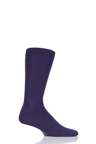 Sockshop-Mens Bamboo Socks-1 Pair Pack-Purple Rain