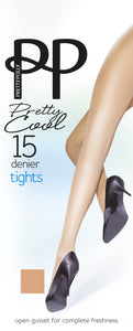 Pretty Polly-Ladies Pretty Cool Tights-Open Gusset