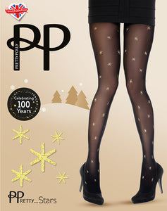 Pretty Polly-Party Tights-Stars Design