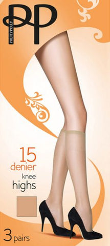 Pretty Polly-3 Pair Pack-Everyday Knee Highs