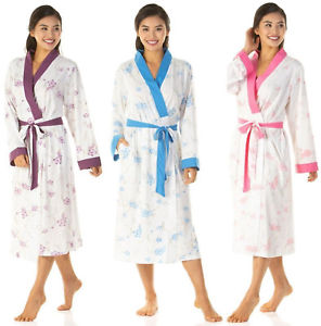 Ladies-Floral Soft Jersey Robe/Wrap