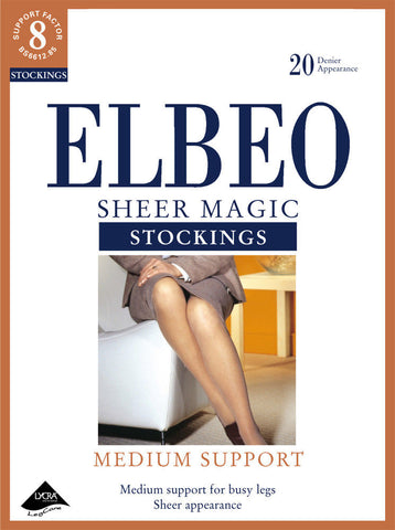 Elbeo-20 Denier-Sheer Magic Stockings-Medium Support Hosiery