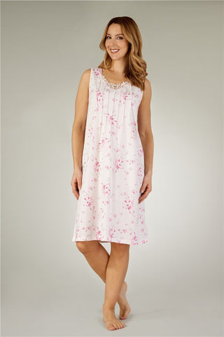 Slenderella-Ladies Nightdress-Poly-Cotton-No Sleeve-ND3121