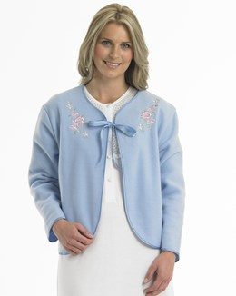 Ladies Bedjacket-Ribbon Tie Front-Slenderella-BJ44600