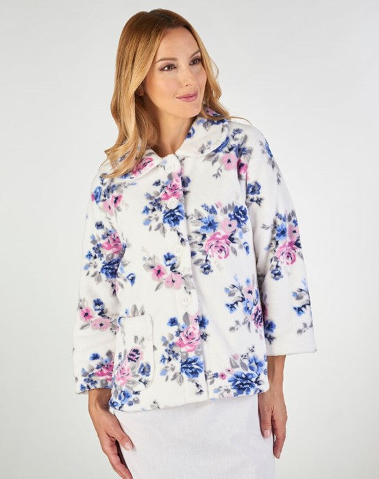 Ladies Bedjacket-Slenderella-Printed Fleece-BJ2310