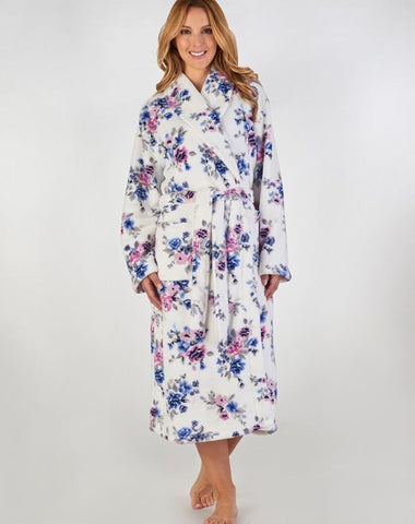 Ladies Dressing Gown/Robe-Slenderella-HC2313