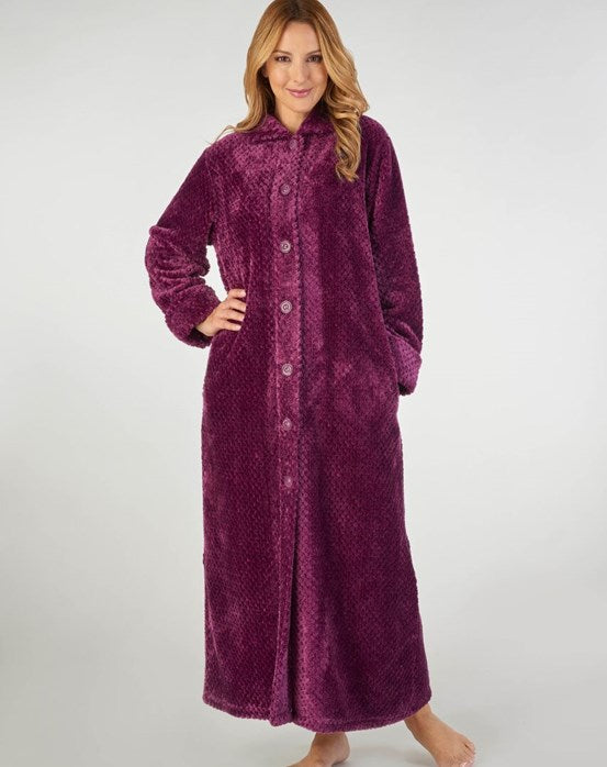 Slenderella-Ladies-Longer Length Dressing Gown-HC2332