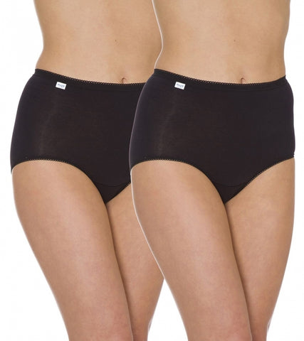 Sloggi-Ladies Maxi Brief-Twin Pack-100% Cotton