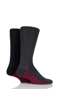 Sockshop-Mens Half Cushion Bamboo Socks-2 Pair Pack