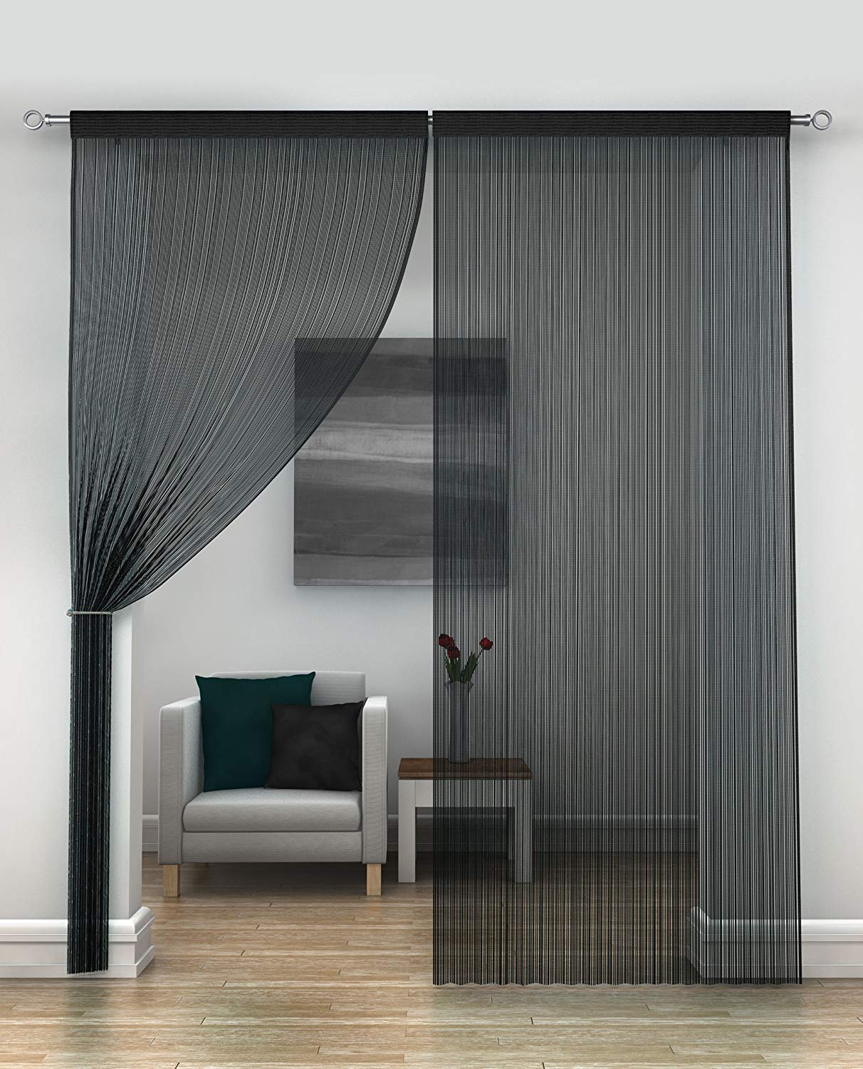 Mirabel-Java String Panel-Door or Window-Black