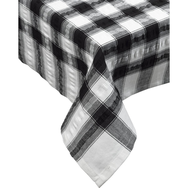Seersucker-100% Cotton-Tablecloths and Napkins-Red