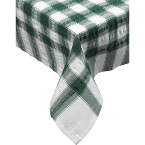 Seersucker-100% Cotton-Tablecloths and Napkins-Dark Green