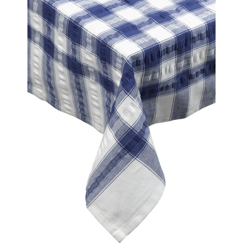 Seersucker-100% Cotton-Tablecloths and Napkins-Royal Blue