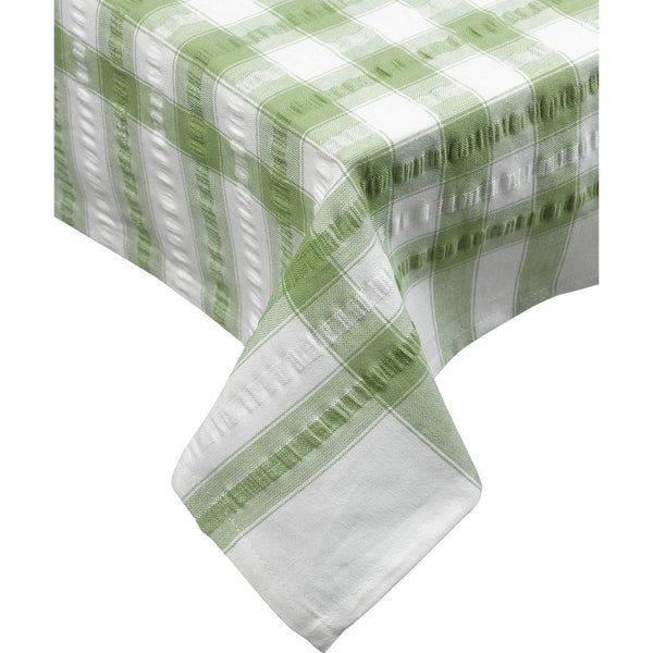 Seersucker-100% Cotton-Tablecloths and Napkins-Teal