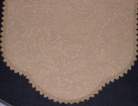 Antimacassar-Chair Backs-Arm Caps-Embossed Scroll Design-Style 6049
