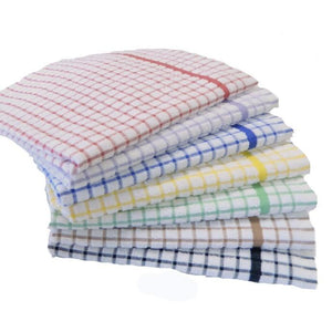 T-Towel-Terry Towelling-Check-100% Cotton