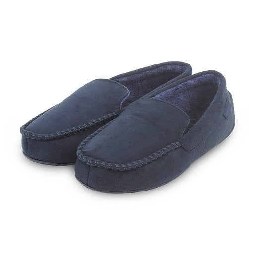 Mens Slippers-Suedette Moccasin-Totes Isotoner-99262