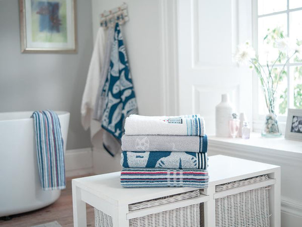 100% Cotton Towels-Sailing Boats Design-All Sizes