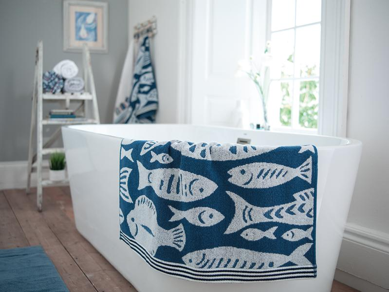 100% Cotton Towels-Fish Design-All Sizes