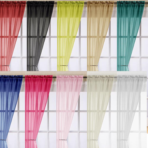 Voile Panels-Trent-Assorted Colours-Assorted Drops