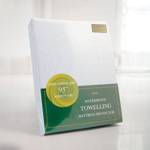 Slumberfleece-Waterproof-Towelling-Mattress Protector