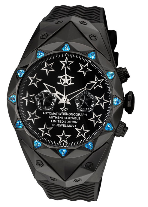 New Watchstar Generation II Automatic Chronograph 49mm Stealth Jet Fighter Watch
