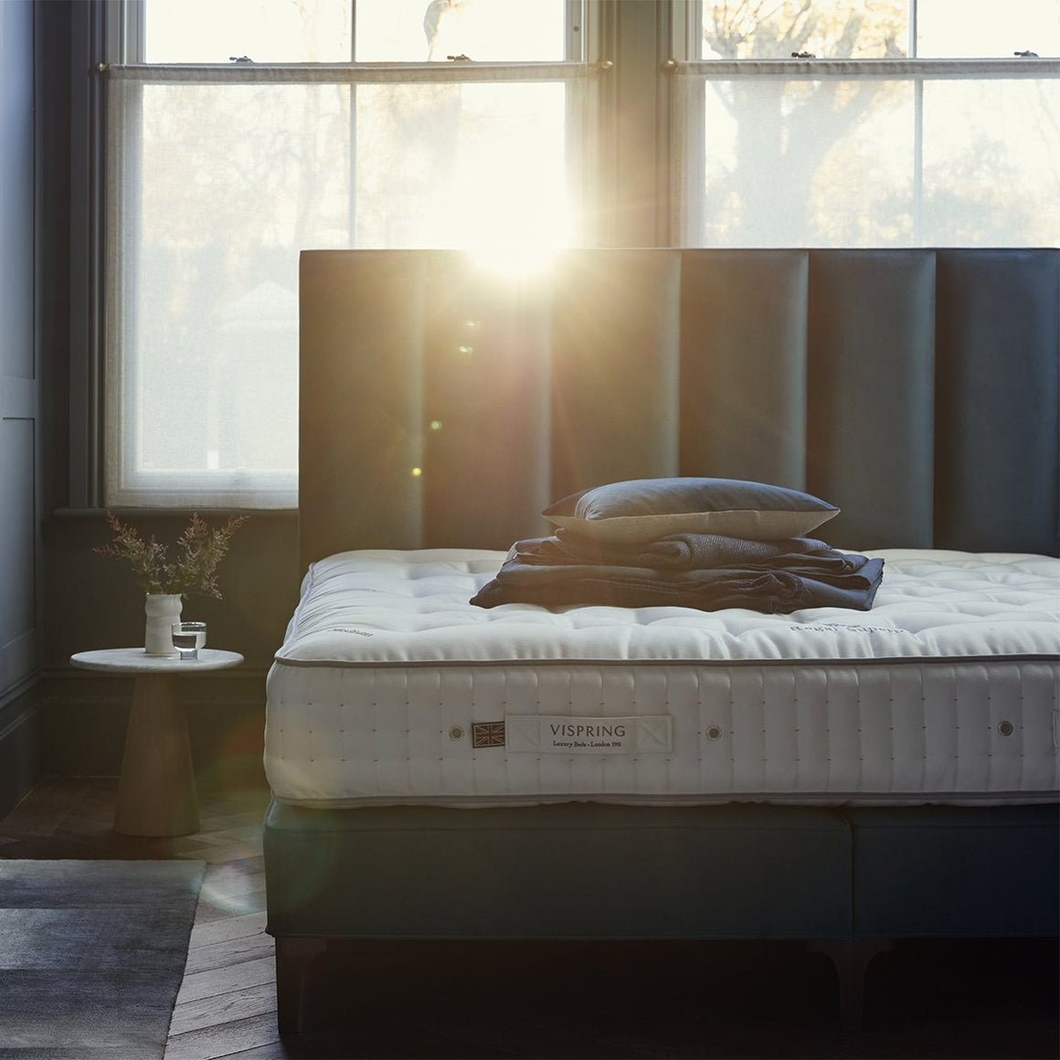 Vispring's Regal Superb mattress with Ceto headboard.