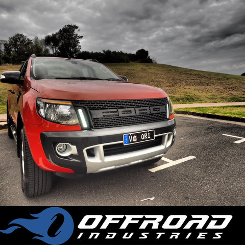 ford ranger raptor style grill abs moulded plastic. Black Bedroom Furniture Sets. Home Design Ideas
