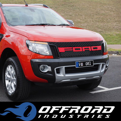 ford ranger raptor style grills new style with drl day. Black Bedroom Furniture Sets. Home Design Ideas