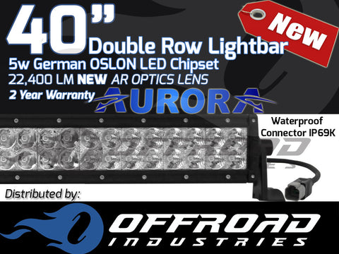 Aurora 40 double row 5w oslon led light bar 4x4 offroad industries aurora 40 double row 5w oslon led light bar 4x4 mozeypictures Choice Image