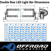 "Aurora 40"" Double Row 5w OSLON LED Light Bar 4x4"