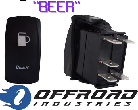 Beer Custom Rocker Switch Laser Etched