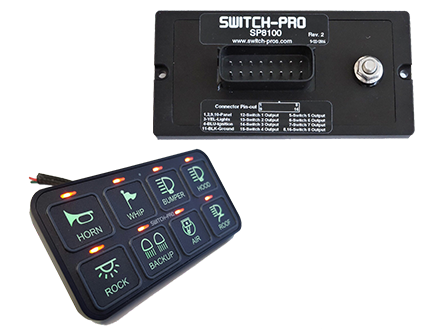 Switch-PROS 8 Switch Panel Bevel System Blue LED's