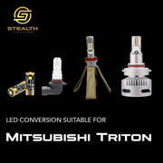 Stealth Lighting LED Headlight Conversion Kit suitable for Mitsubishi Triton