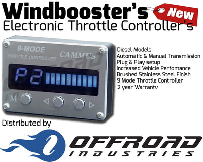 9 Mode Windbooster Throttle Controller suitable for Mitsubishi Triton MQ