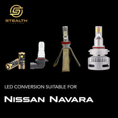 Stealth Lighting LED Headlight Conversion Kit suitable for Nissan Navara