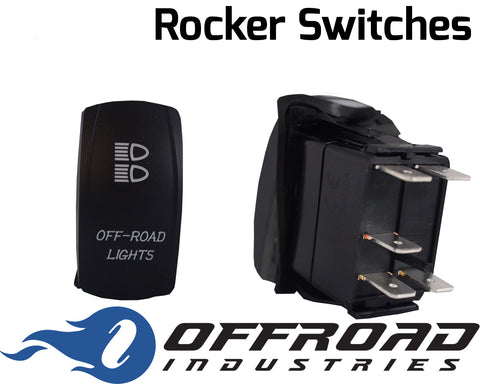 Off Road Lights Custom Rocker Switch Laser Etched