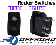 Roof Lights Custom Rocker Switch Laser Etched
