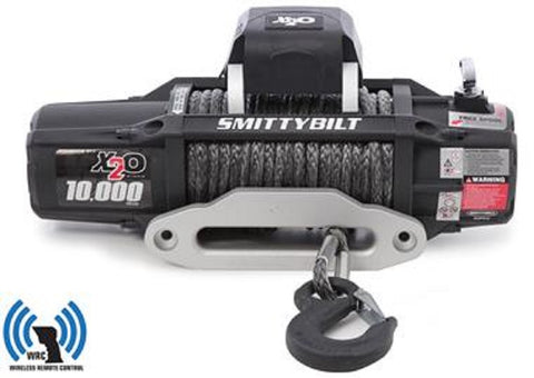 Smittybilt X20 GEN2 Wireless Waterproof Synthetic Rope Winch 10000lbs