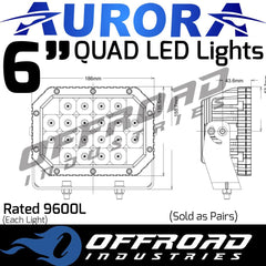 "Aurora 6"" Quad LED Light Combination Beam"