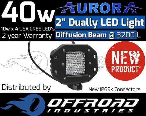 "Aurora 2"" Inch Diffuser Flush LED Light Bar"