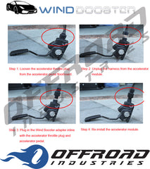 Windbooster 4s Electronic Throttle Controller suitable for Ford Raptor Ranger PU 2018 onwards