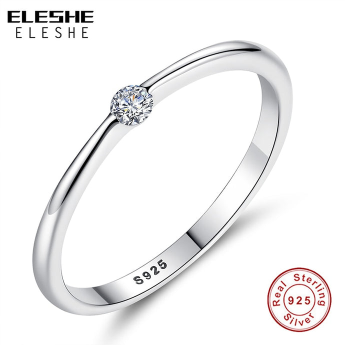 ELESHE Authentic 925 Sterling Silver Ring