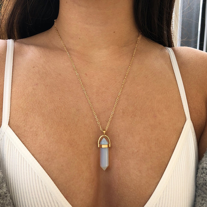 Bohemia Trend Opal Stone Choker Necklaces